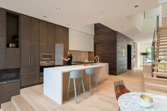 Two Slim Semi-Detached Dwellings / Architects Luc Bouliane