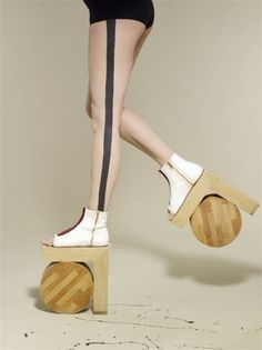 Dazed Digital #design #shoe #wood #textile #heels #fashion