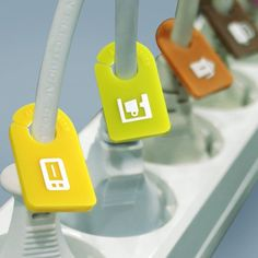 Kitchen Cable Organizer Plug Tags #tech #flow #gadget #gift #ideas #cool
