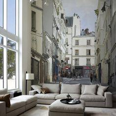 Street Near Montmartre Paris Wall Mural #tech #flow #gadget #gift #ideas #cool