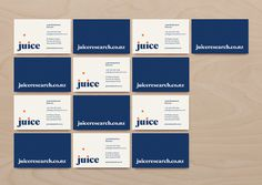 Juice Business Card #business card #print #branding #stationery