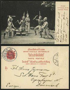 Vintage Siamese postcards, thailand