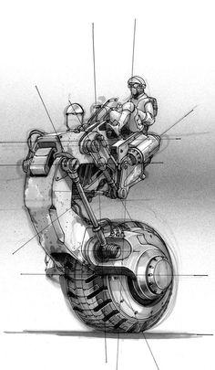 Doug Chiang stap concept #futuristic #fi #sci #illustration #concept