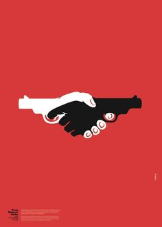 15th Anti Racism Festival poster by Unusual #clever #illustration #guns #hands