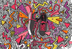 Kate Moross, Advertising campaign for Converse Re-Imagine. #campaign #graphic #converse #advertising #re #moross #for #art #imagine #kate