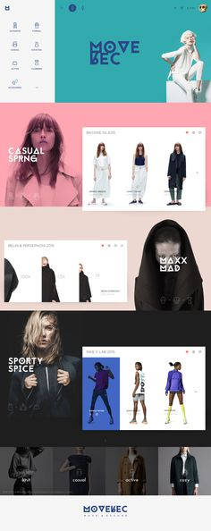 colorful & simple layout #web