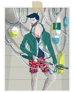 MICHAEL SANDERSON™: Design & Branding #fashion #illustration #men