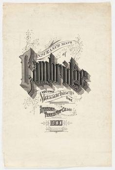 Christian Annyas / Pinterest #sanborn #lettering #vintage #typography