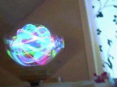 Spinning LED ball #ball #pin #glow #gif #led