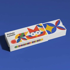 Encourage your child's creative thinking with the Paper Puzzle Block! Each block is beautifully designed with simple geometrical shapes that form six animal puzzles to spark their creativity and imagination. Made of sustainably sourced reinforced paper, each block is super lightweight yet can hold the weight of an adult. Plus, it looks good on the bookshelf too!