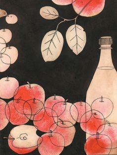 apples# cider# drawing#