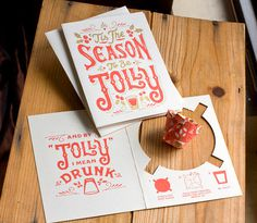 Christmas Card / Package #christmas #print