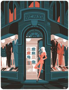 La parisienne on Behance #front #suite #shop #store #illustration