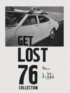 surf, lost, found, vintage #poster