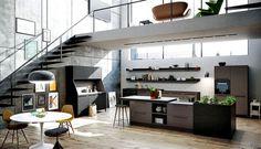 Interior Design Trends 2015 The Dark Color Schemes are Back siematic kitchen urban