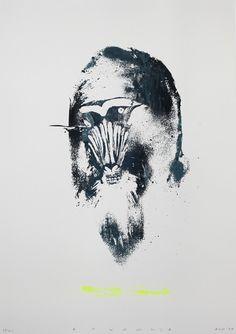 Twoone #baboon #krap #print #twoone #street #artwork #screen #paint #stupid #minimal #art #painting #giclee #spray