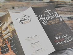 Harvest Christian Fellowship Mockups #print #brochure
