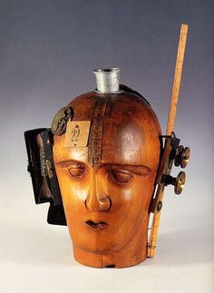 File:MechanicalHead-Hausmann.jpg - Wikipedia, the free encyclopedia #collage #head #thinking #wooden