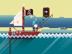 Ridiculous Fishing #graphic #illustration #ios #game #fishing