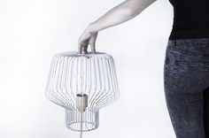 Voliera #grid #light #gray #grey #lamp #metal #cage
