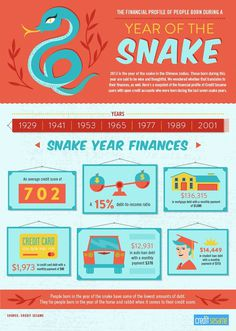Year of the Snake Finances #infographics #money #finances