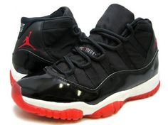 NIKE Air Jordan 11 XI OG Black Red White 130245-062.jpg (640×480)