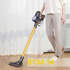 Dibea #D18 #Handheld #Vacuum #Cleaner #with #Motorized #Brush #- #GOLD