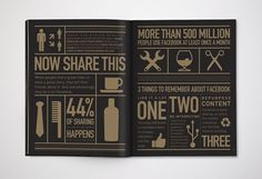 design work life » Karsh/Hagan: Social Animals #icon #infographics #design #black #gold #and #awesome #magazine #karshhagan