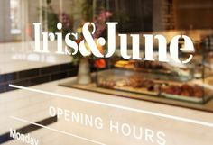 Iris & June #design #graphic #signage #signs #window #typography