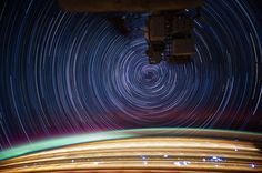 3 | Photographing Star Trails From Space, At 17,000 MPH | Co.Design: business + innovation + design #earth #iss #startrail #space