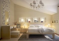 Modern design in artistic bedrooms