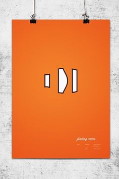 Pixar Minimal Posters on the Behance Network #lee #wonchan #minimalism #finding #rmit #melbourne #tribute #nemo #minimal #poster #minimalist #pixar