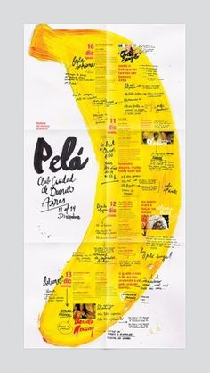 Pelá - Brazilian Festival on the Behance Network #calligraphy #tipografia #banana #write #afiche #poster #hand #typography