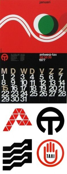 Paul Ibou | AisleOne #belgian #calendar #bold #minimal #kern