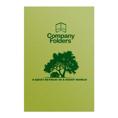 Big Tree Retreat Folder Template #tree #template #real estate