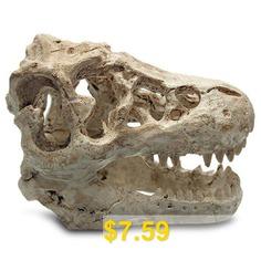 Resin #Dinosaur #Skull #Shape #Aquarium #Decors #- #YELLOWISH #PINK