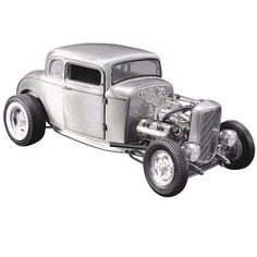 1932 Ford 5 Window Hot Rod Coupe Hammered Steel Limited Edition to 774 pieces Worldwide 1/18 Diecast Model Car by Acme