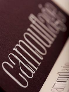 Behance Network :: Project Editor #font #camouflage #sleek #brand #identity #elegant #textile #type