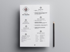 Free Minimal Resume Template with Elegant Feel