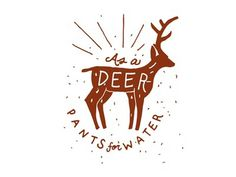 deer #deer #lettering #illustration #drawn #hand #typography