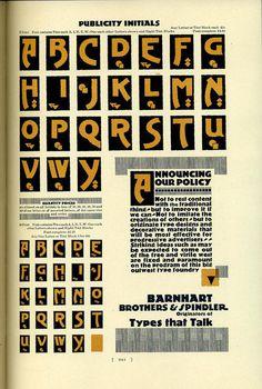 Sidney Gaunt designed Publicity Roman for Barnhart Bros #typography