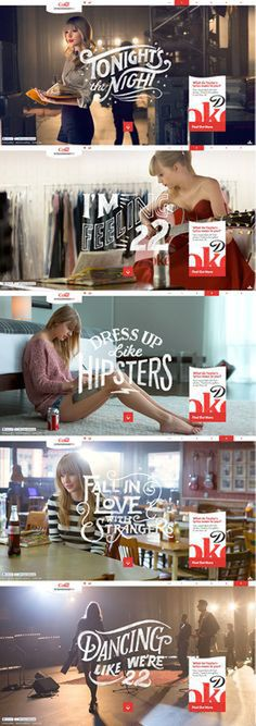 Taylor Swift typography.
