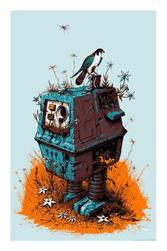 Robot - jeffsoto.com #robot #wars #bird #illustration #star