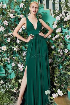 eDressit 2020 New Green V-Cut Bridesmaid Dress Evening Gown (07200304)