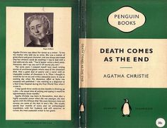 Penguin Books cover for 'Death comes as the end' (1958) | Flickr - Photo Sharing! #design #graphic #book #books #cover #penguin #typography