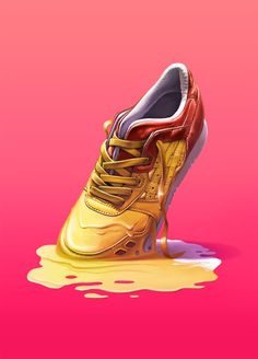 Vasya Kolotusha #fashion #illustration #color #sneaker