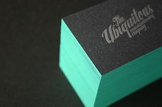1mm edge painted letterpress cards | Flickr - Photo Sharing! #card #business #stationery