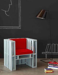 Les Palettes on Behance #pallet #wood #chair