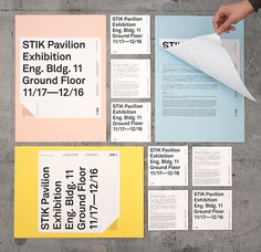STIK Pavilion Exhibition on Behance #primary #print #pastel #identity #type #colour #typography