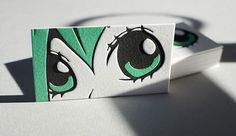 #Anime style #letterpress business card